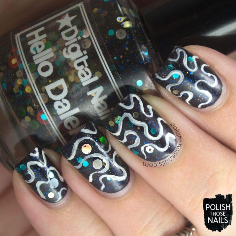 nails, nail art, nail polish, black, indie polish, polish those nails