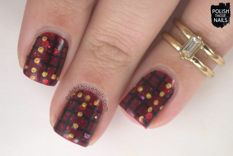 nails, nail art, nail polish, winter warmth, polish those nails, indie polish, red, glitter,
