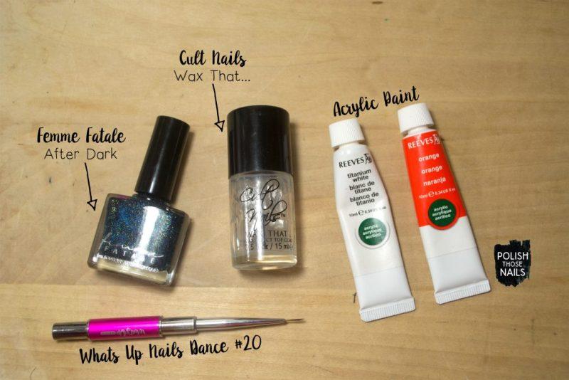 teal-flakie-holo-orange-contrast-stripe-nail-art-bottle-shot