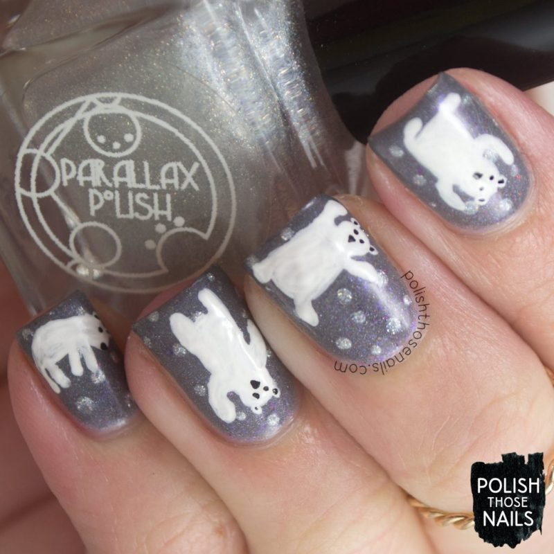 nails, nail art, nail polish, polar bears, polish those nails, indie polish