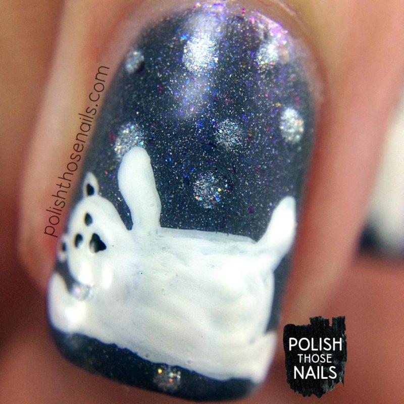 nails, nail art, nail polish, polar bears, polish those nails, indie polish, macro