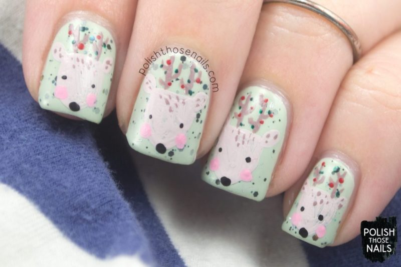 nails, nail art, nail polish, reindeer, polish those nails, holiday