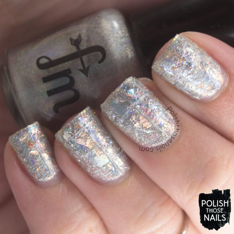nails, nail art, nail polish, silver, holo, indie polish, polish those nails