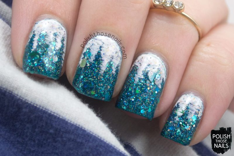 nails, nail art, nail polish, glitter, icicles, indie polish, polish those nails