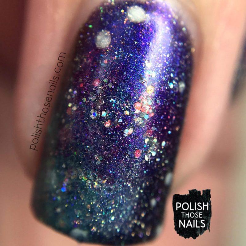 nails, nail art, nail polish, galaxy, polish those nails, indie polish, holo, sparkle, macro