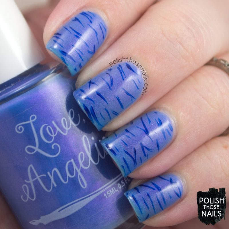 love angeline, nails, nail polish, indie polish, polish those nails, nail art, pattern, calm waters, shimmer