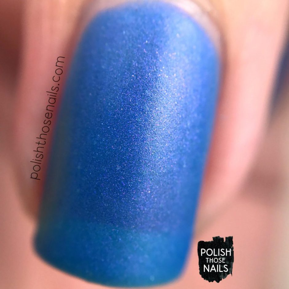 love angeline, nails, nail polish, indie polish, polish those nails, swatch, calm waters, shimmer, matte, macro