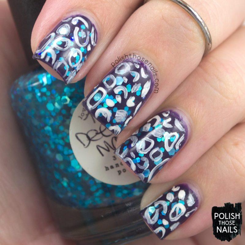 deep magic, glitter, nails, nail polish, indie polish, love angeline, polish those nails, nail art, pattern
