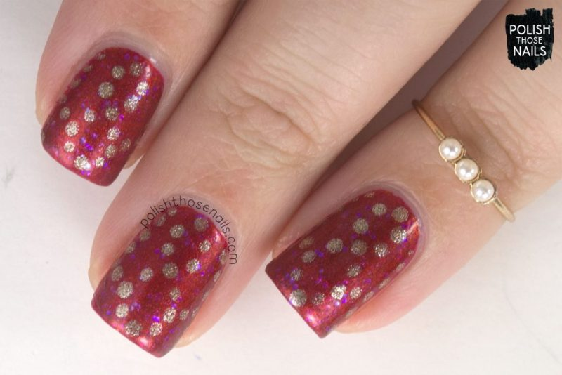 nails, nail art, nail polish, new polish, orange, polka dots, polish those nails