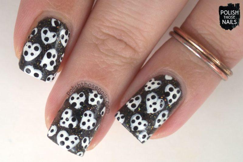nails, nail art, nail polish, hearts, valentine, indie polish, polka dots, polish those nails,