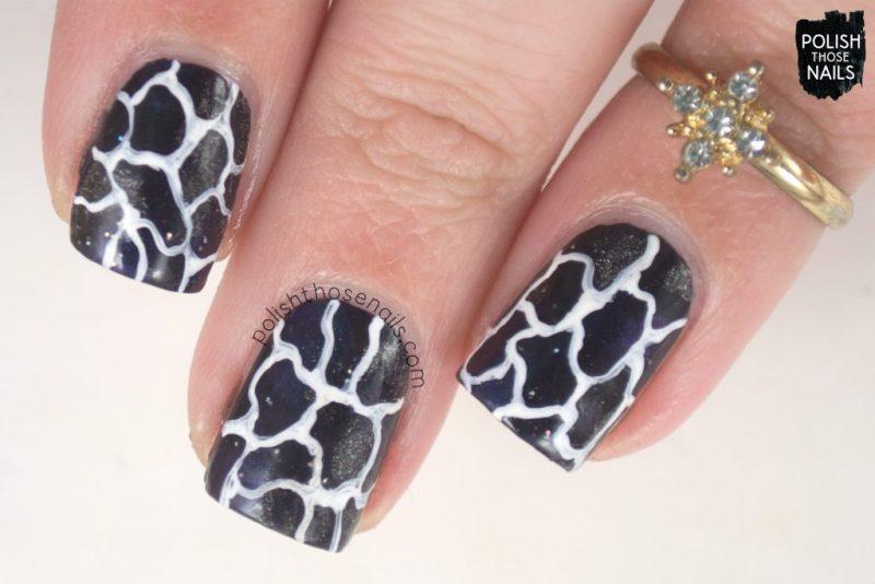 nails, nail art, nail polish, black, squiggles, polish those nails, indie polish