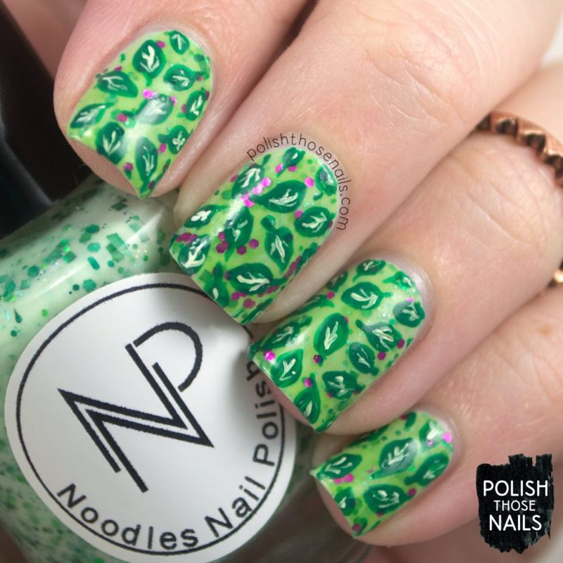 nails, nail art, nail polish, vegetarian, green, leaves, polish those nails, indie polish