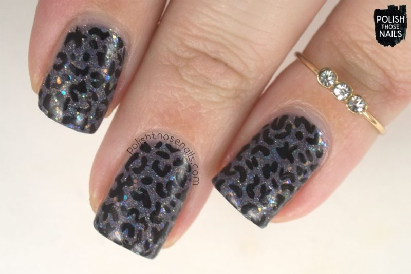 nails, nail art, nail polish, black, grey, indie polish, polish those nails, pattern