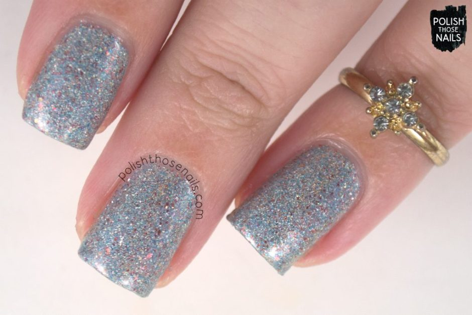 swatch, heaven from hell, silver, nails, nail polish, indie polish, different dimension, polish those nails, glitter