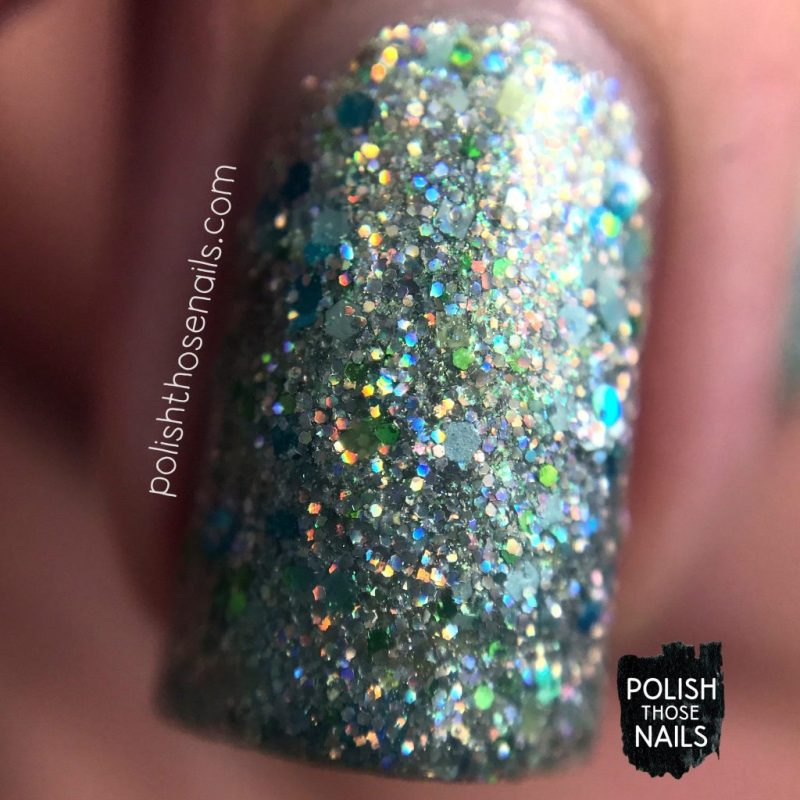 holo, silver, pier pressure, nails, nail polish, indie polish, different dimension, polish those nails, glitter