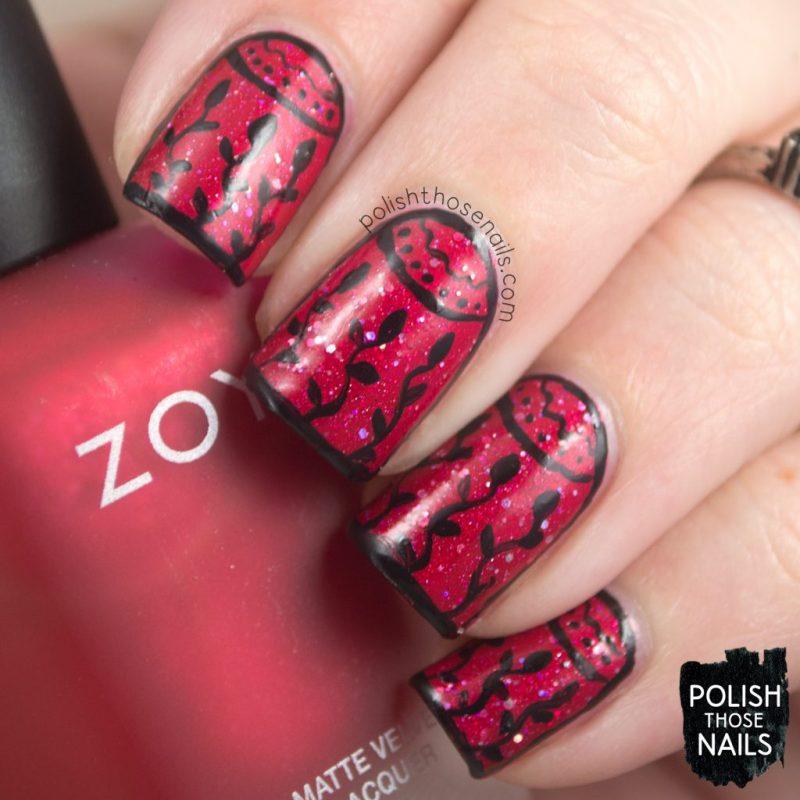 nails, nail polish, nail art, red, flapper dress, indie polish, polish those nails