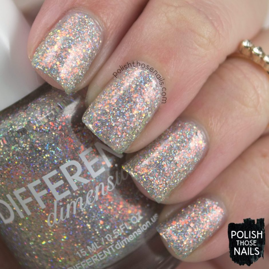 ghost of jupiter, silver, nails, nail polish, different dimension, glitter, polish those nails, indie polish, swatch