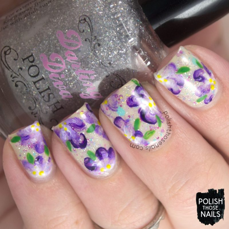 nails, nail art, nail polish, spring, flowers, floral, polish those nails, indie polish