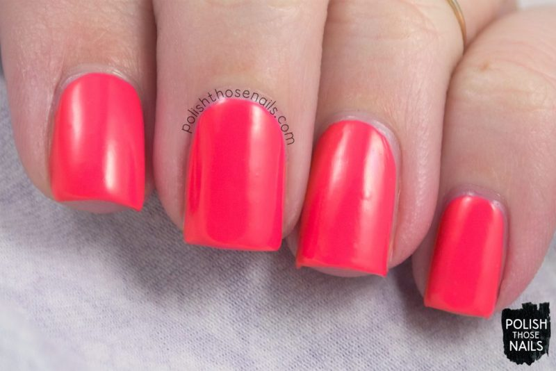 swatch, electric pop, coral, nails, nail polish, polish those nails, sally hansen, bright,