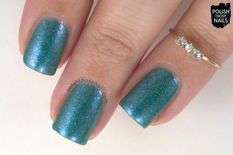 swatch, nails, nail polish, indie polish, sweet & sour lacquer, polish those nails, june 2017, turquoise, shimmer