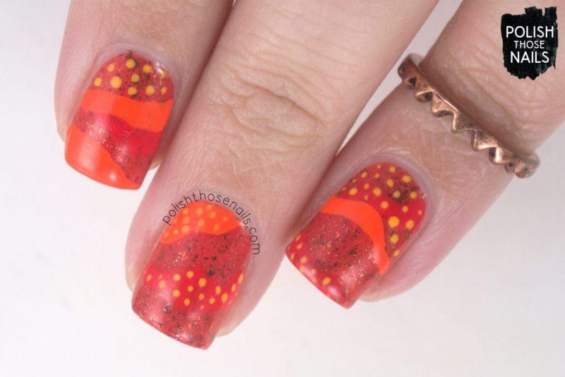 nails, nail art, nail polish, orange, flakies, indie polish, polish those nails,