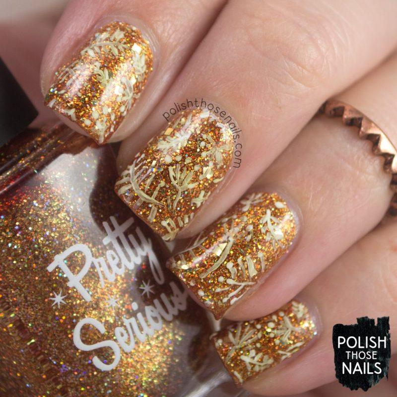 nails, nail art, nail polish, paper, gold, glitter, free hand, indie polish