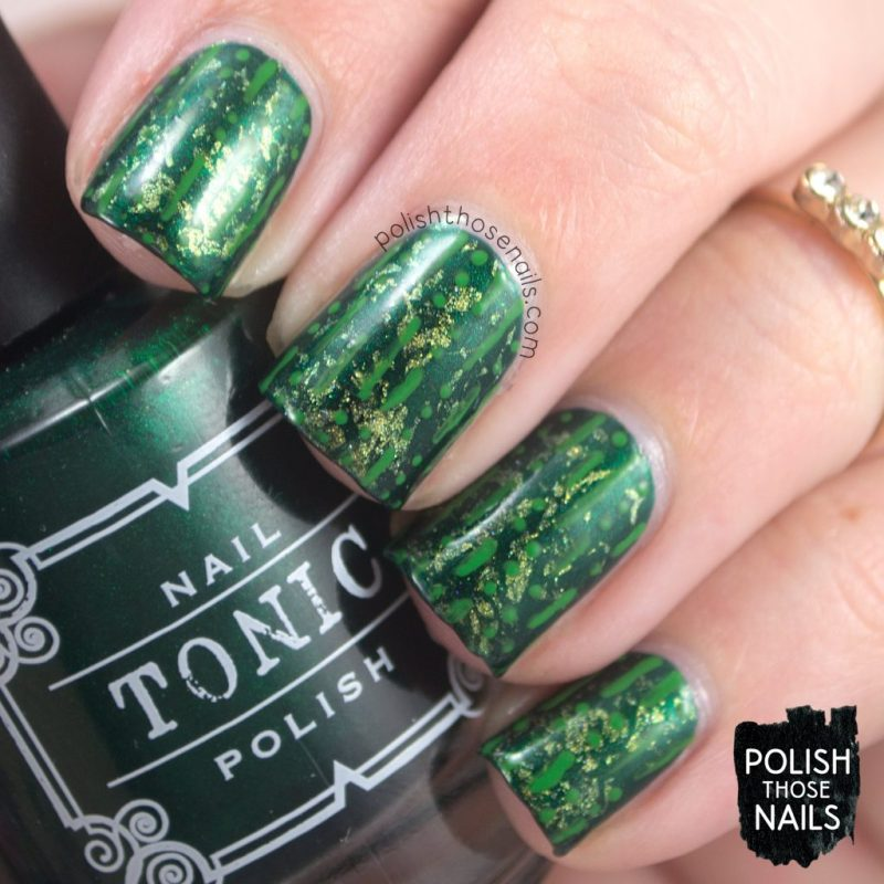 nails, nail art, nail polish, green, tonic nail polish, indie polish, polish those nails