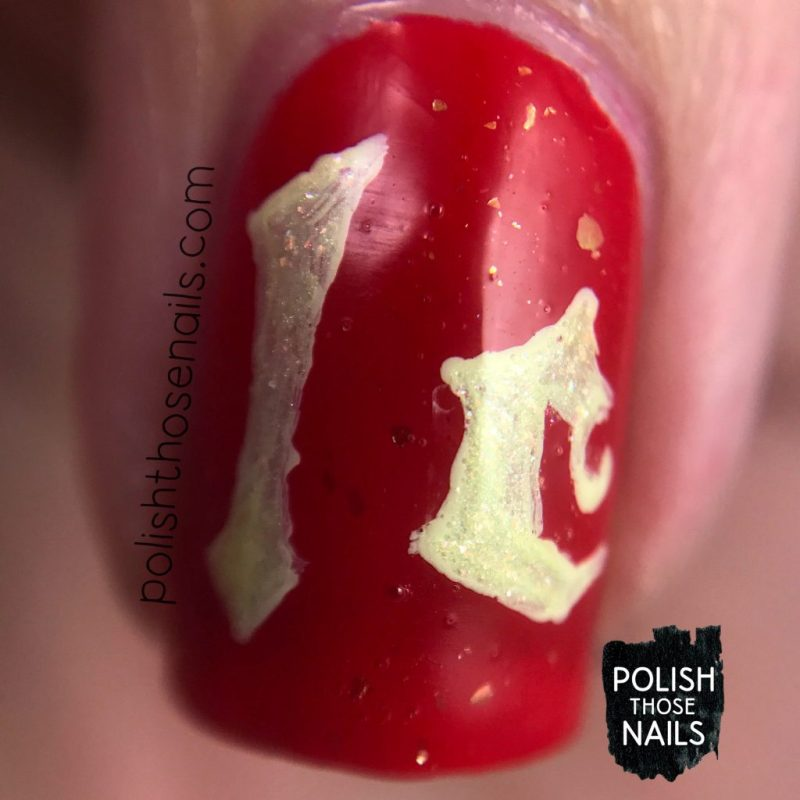 nails, nail art, nail polish, halsey, hopeless fountain kingdom, type, typography, polish those nails, red, macro