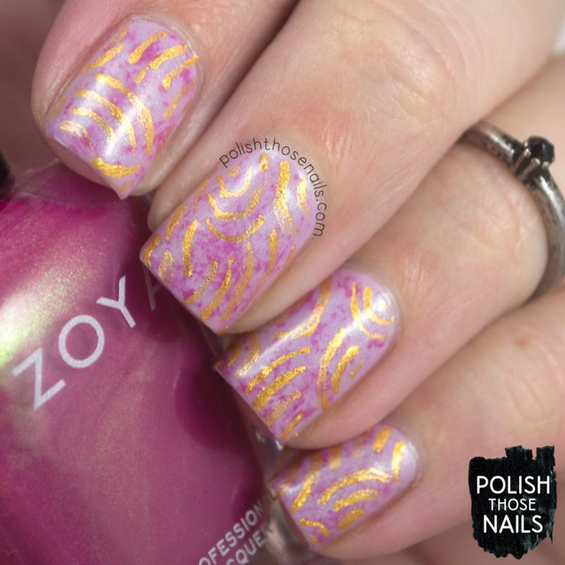 nails, nail art, nail polish, abstract, lilac, pink, gold, polish those nails