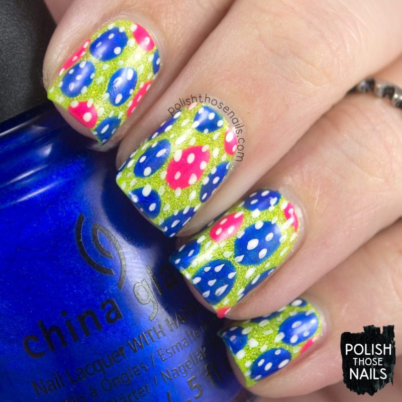 nails, nail art, nail polish, neon, polka dots, polish those nails