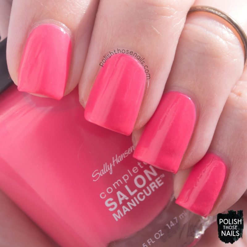 get juiced, swatch, nails, nail polish, sally hansen, polish those nails, coral