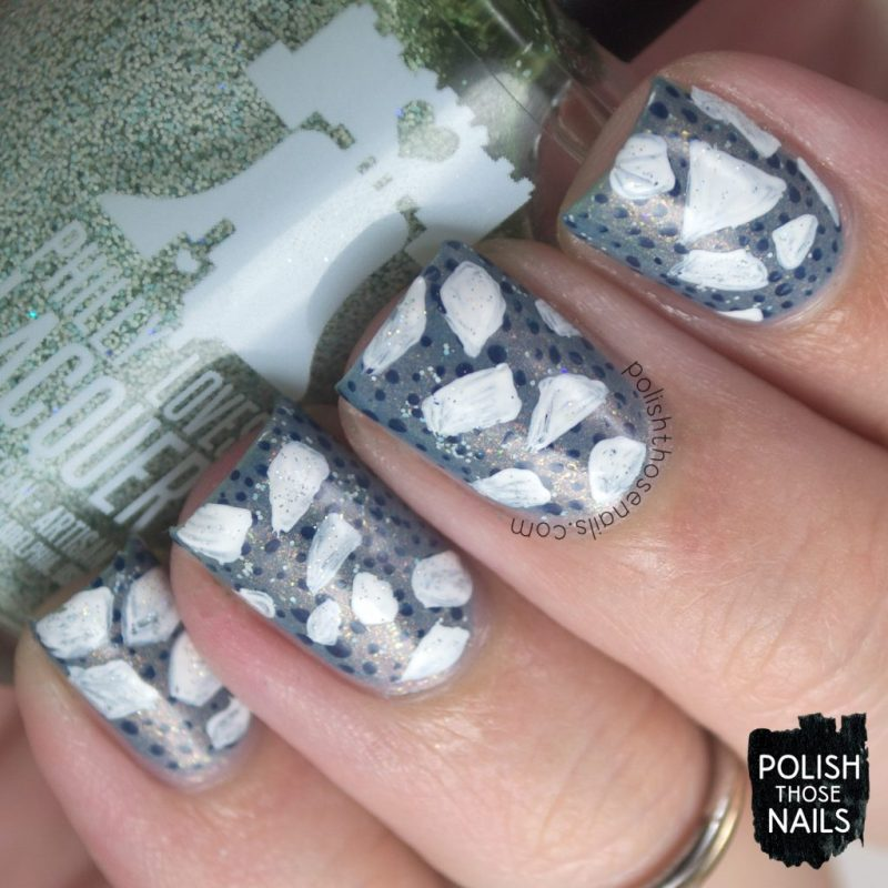 nails, nail art, nail polish, indie polish, continents, antartica, pattern, polish those nails