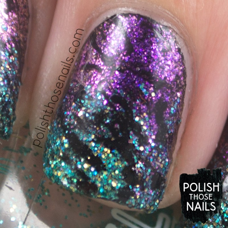 nails, nail art, nail polish, gradient, glitter, indie polish, polish those nails, macro