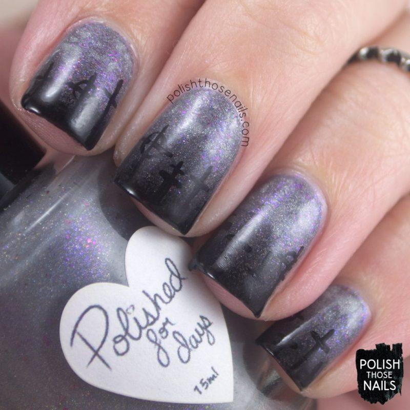 nails, nail art, nail polish, cemetery, polish those nails, halloween