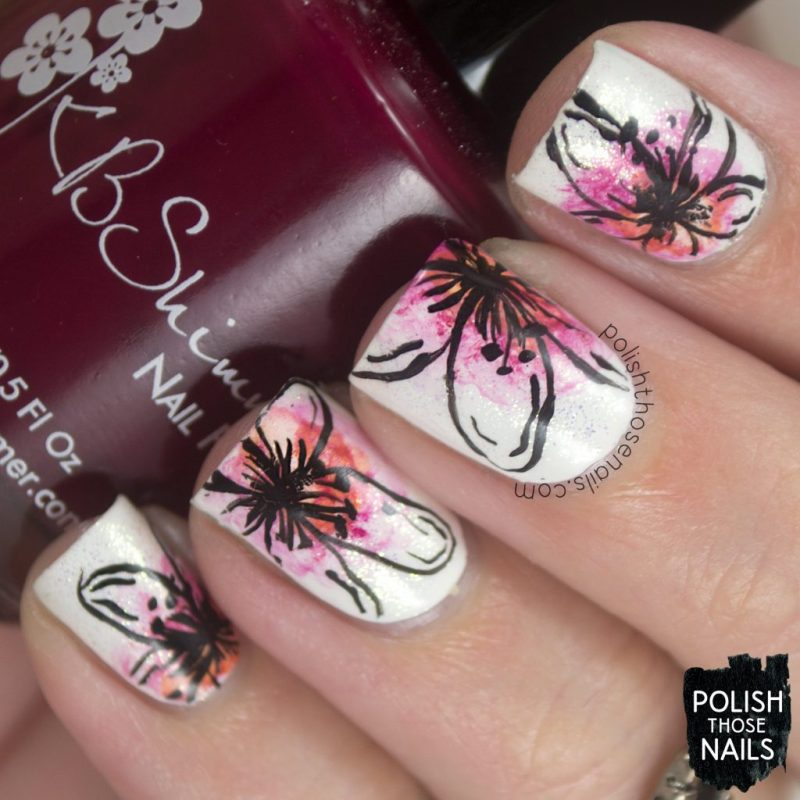 nails, nail art, nail polish, flowers, floral, polish those nails, watercolor, throwback