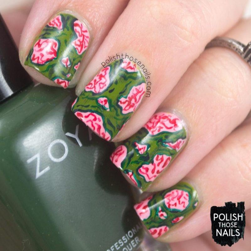nails, nail art, nail polish, halloween, zombies, polish those nails, indie polish