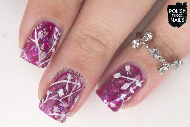 nails, nail art, nail polish, pink, florals, polish those nails, indie polish, pattern