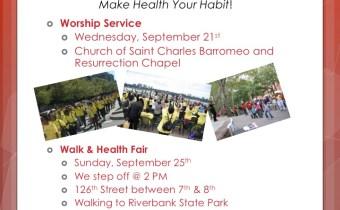 Communities of Harlem Health Revival- Sept. 25th!