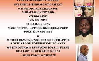 "Marc Polite to Make Radio Appearance on ""Prosey's Corner"" Saturday, April 14th!"