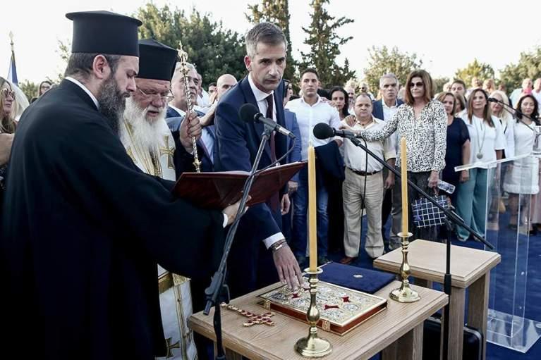 Ορκίστηκε ο Κώστας Μπακογιάννης δήμαρχος Αθηναίων