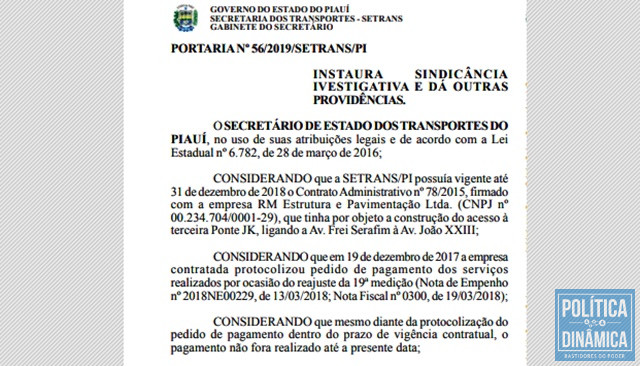 Parte da portaria publicada no Diário Oficial do Estado (Foto: Reprodução/DOE)