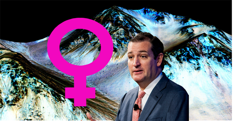 ted cruz mars water supply proves girls go to jupiter to get more