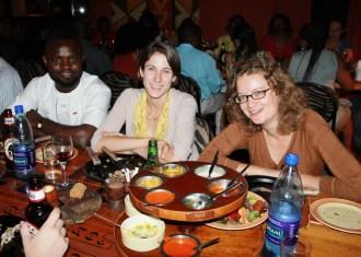 Tarila, Ruth, and Cori at Carnivore