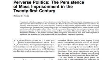 review essay capital and politics by leo panitch political perverse politics the persistence of mass imprisonment in the 21st century