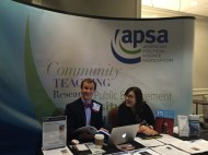 APSA Booth with APSA staff on-site