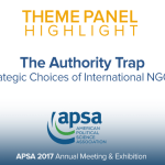 Theme Panel: The Authority Trap: Strategic Choices of International NGOs