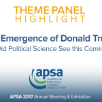 Theme Panel: The Emergence of Donald Trump: Did Political Science See this Coming?