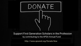 Support First Generation Scholars in the Profession