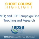 Short Course: Using CFI, NIMSP, and CRP Campaign Finance Data for Teaching and Research