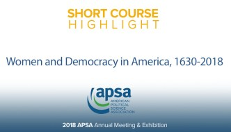 Short Course: Women and Democracy in America, 1630-2018